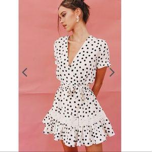 Verge girl polka dots dream dress BLOGGERS FAV